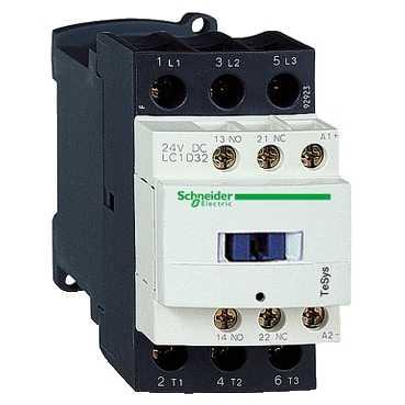 Контактор D 3P 18A 220В AC 50/60Гц 1но+1нз (LC1D18M7)