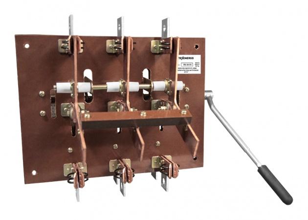 Рубильник переключатель ПБ-36 630А на текстолите (RP103630)