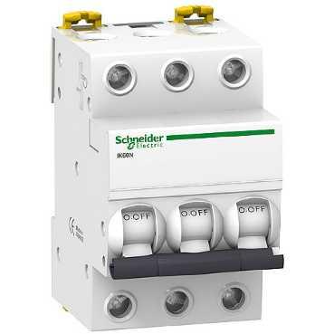 Автоматический выключатель iK60N 3п 25A C 6кА A9K24325 Schneider Electric