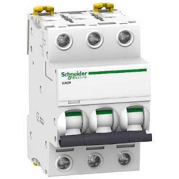 Автоматический выключатель iC60H 3П 63A C A9F89363 Schneider Electric
