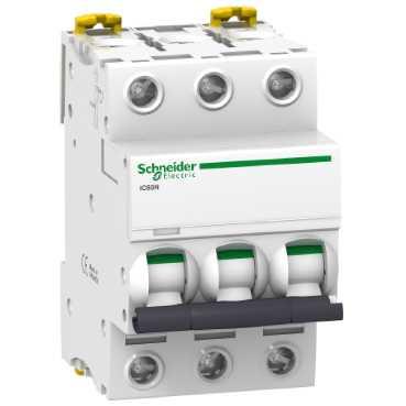 Автоматический выключатель iC60N 3П 6A C A9F79306 Schneider Electric