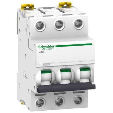 Автоматический выключатель iC60N 3П 16A C A9F79316 Schneider Electric