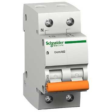Автоматический выключатель ВА 63 1п+N 6А C 4,5кА 11211 Schneider Electric