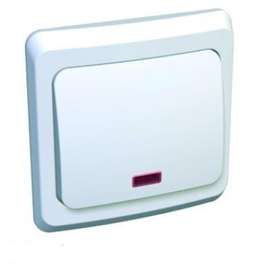 Этюд Выключатель с/у 1 клавиша с подсветкой белый BC10-005B Schneider Electric