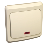 Этюд Выключатель с/у 1 клавиша с подсветкой кремовый BC10-005K Schneider Electric