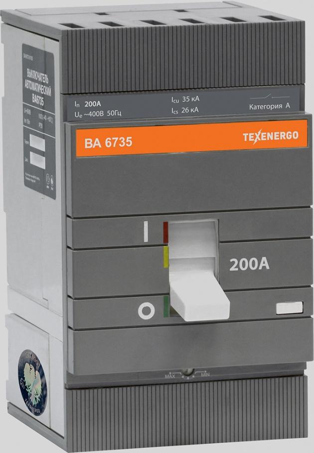 Автоматический выключатель ВА 6735 200А 35кА SAV673-0200 Texenergo