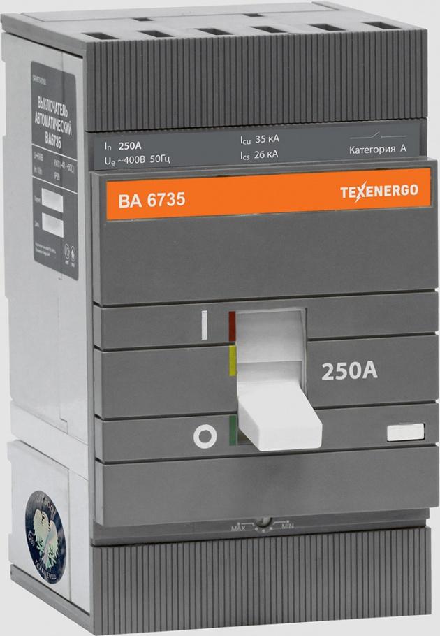 Автоматический выключатель ВА 6735 250А 35кА SAV673-0250 Texenergo