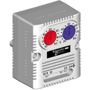 Термостат с 2 температурными установками 0...60 °C 1 н.з. /1 н.о. NSYCCOTHD Schneider Electric