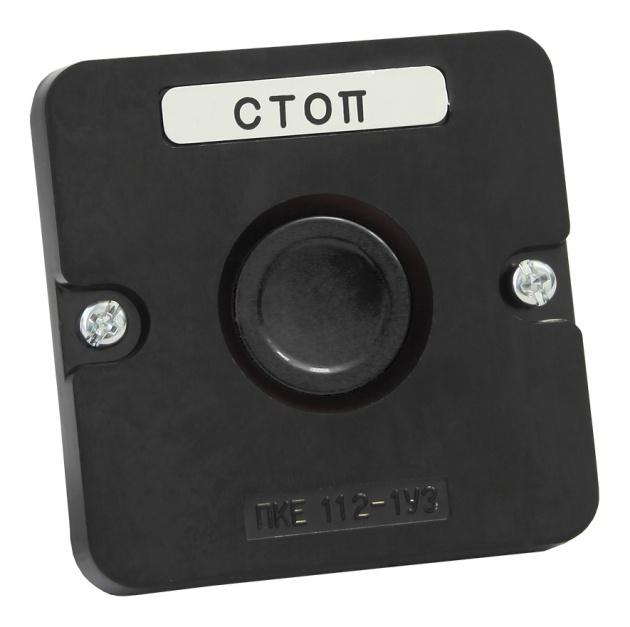 Пост кнопочный ПКЕ 112-1 черный PKE1121KB Texenergo
