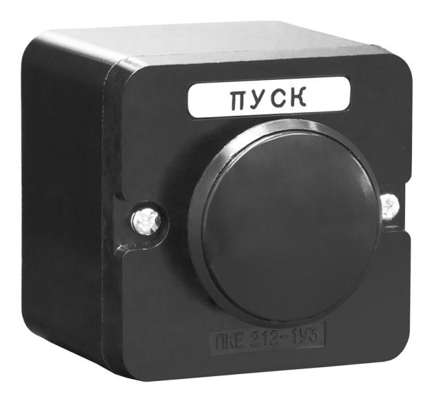 Пост кнопочный ПКЕ 212-1 Черный Гриб PKE2121GB Texenergo