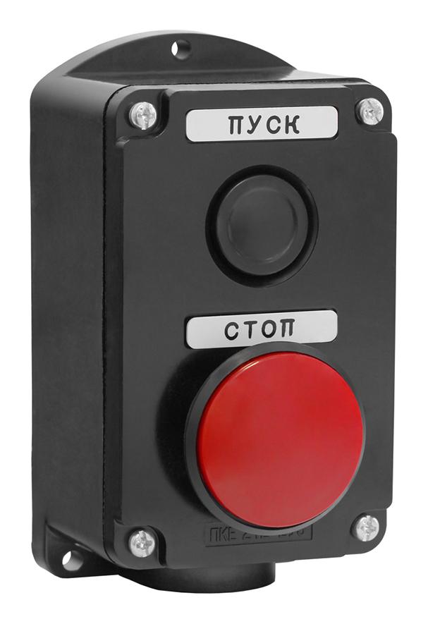 Пост кнопочный ПКЕ 212-2 Красный Гриб PKE2122GR Texenergo