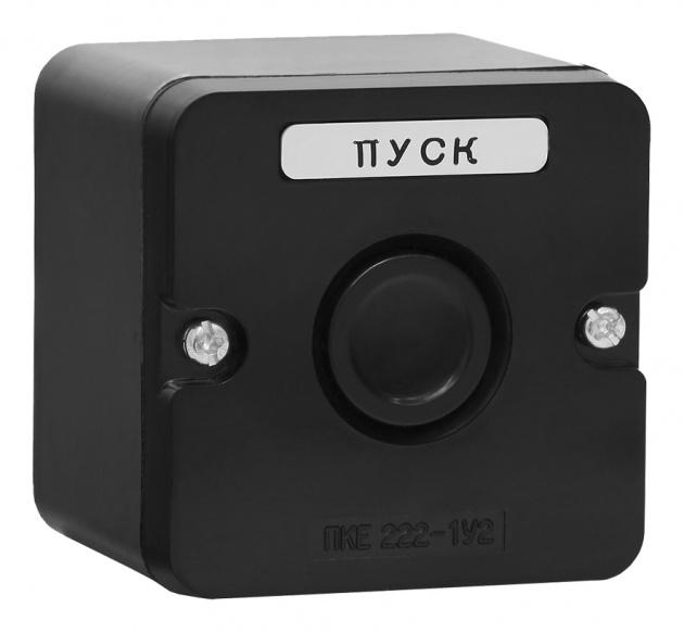 Пост кнопочный ПКЕ 222-1 У2 черная кнопка IP54 PKE2221KB Texenergo