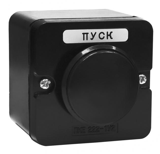 Пост кнопочный ПКЕ 222-1 Черный Гриб PKE2221GB Texenergo