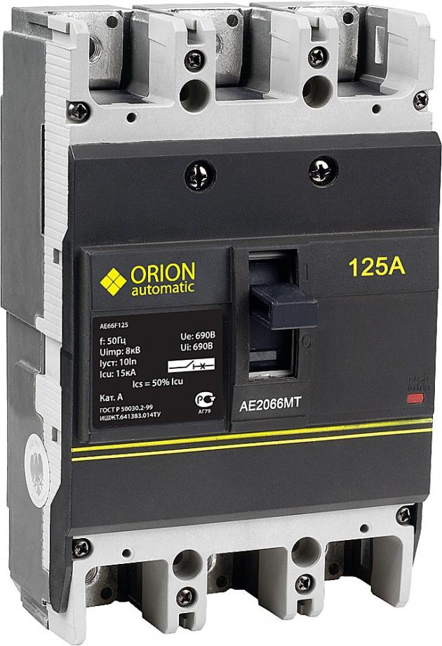Автоматический выключатель АЕ 2066МТ 3п 125А 15кА AE66F125 Texenergo