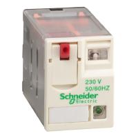 Реле промежуточное RXM, 4 C/O, 3А, 230В AC, LED RXM4GB2P7 Schneider Electric