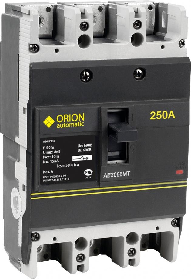 Автоматический выключатель АЕ 2066МТ 3п 250А 15кА AE66F250 Texenergo