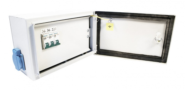 Ящик с трансформатором ЯТП-ОСО 0,25 220/36В (3 автомата) IP54 ST2-25M0363 Texenergo