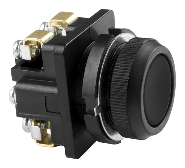 Выключатель кнопочный КЕ 011/2 черный 1з+1р B0112-11B Texenergo