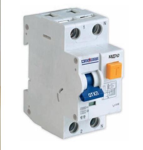 Дифавтомат АВДТ 67 1п+N 25A/30мА AC C 4,5кА TDA25S Texenergo
