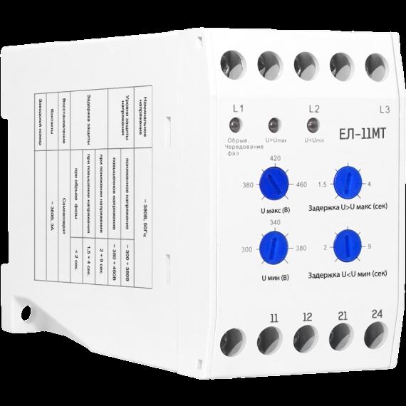 Реле контроля 3-фазной сети ЕЛ-11МТ 350-480В 1NO+1NC PR11Q Texenergo