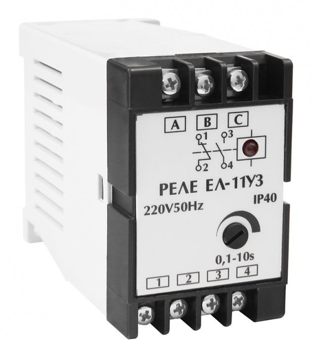 Реле контроля 3-фазной сети ЕЛ-11 380В 50Гц 1NO+1NC  Харьковский ЭМЗ