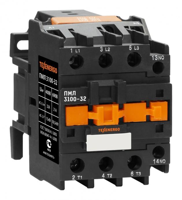 Пускатель электромагнитный ПМЛ 3100 220В 32А 1з PM1L3210M Texenergo