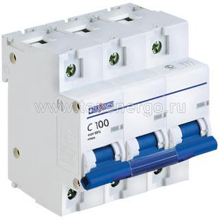 Автоматический выключатель ВА 67100 3п 100А С 10кА TAM310C100 Texenergo