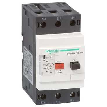 Автоматический выключатель с комбинированным расцепителем 56-80A GV3ME80 Schneider Electric