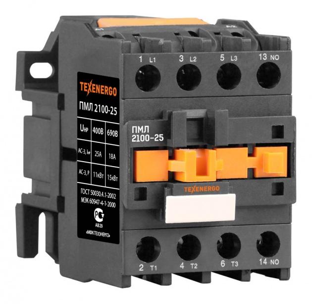Пускатель электромагнитный ПМЛ 2100 380В 25А 1з PM1L2510Q Texenergo