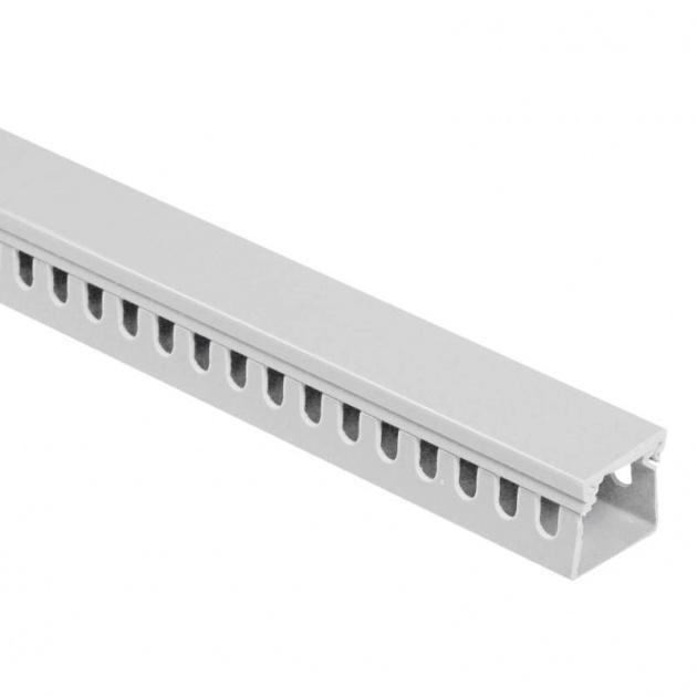 Кабель-канал перфорированный 25х25 (ПВХ-серый) CKKP025-025G Texenergo