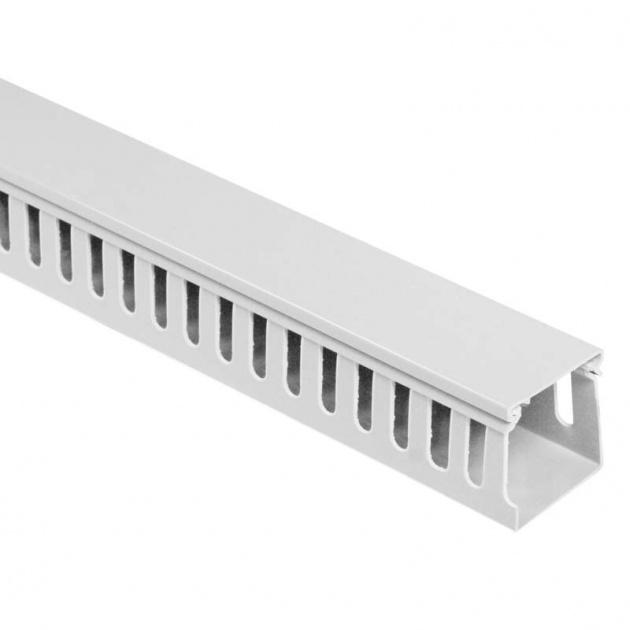 Кабель-канал перфорированный 25х40 (ПВХ-серый) CKKP025-040G Texenergo