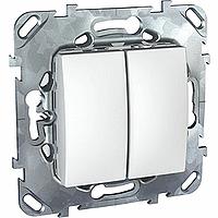 ДВУХКЛАВИШНЫЙ ПЕРЕКЛЮЧАТЕЛЬ (СХ.6+6) БЕЛ MGU5.213.18ZD Schneider Electric