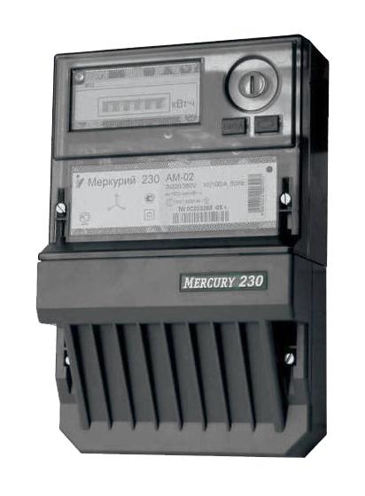 Счетчик электроэнергии Меркурий 230 AM-02 10-100А 3*230/400В 1 тариф. кл. точн. 1 М230AM-02 Инкотекс