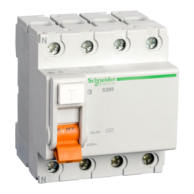 УЗО ВД63 4п 25A/30мА AC 0,5/4,5кА 11460 Schneider Electric