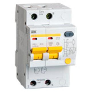 Дифавтомат АД12 2п 16A/30мА AC C 4,5кА MAD10-2-016-C-030 IEK