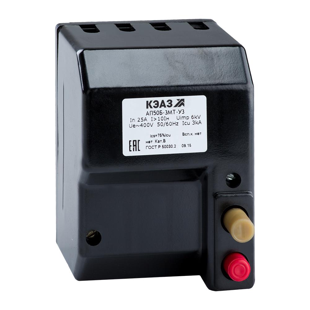 Автоматический выключатель АП50Б-3МТ-10КР 10А 107261 КЭАЗ