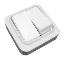 Выключатель белый о/у 2 клавишы А56-У02 Белоцерковское УПП УТОС