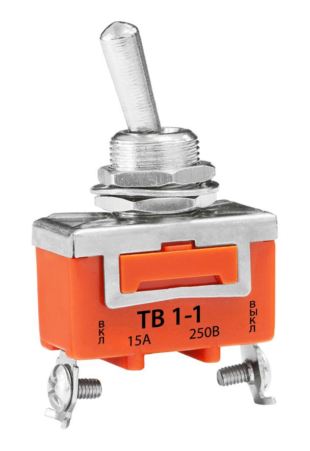 Тумблер ТВ1-1 15А 220В TL15-1 Texenergo