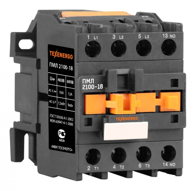 Пускатель электромагнитный ПМЛ 2100 380В 18А 1з PM1L1810Q Texenergo
