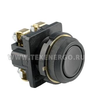Выключатель кнопочный КЕ 012/2 черный 3з+1р B0122-31B Texenergo