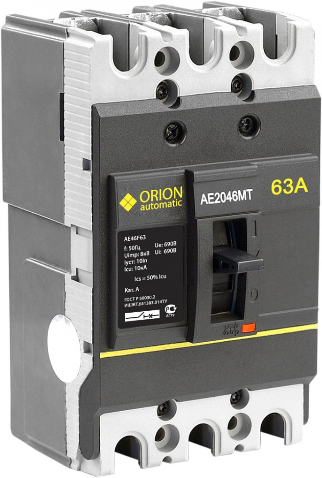 Автоматический выключатель АЕ 2046МТ 63А 660В 7.5кА AE46F63 Texenergo