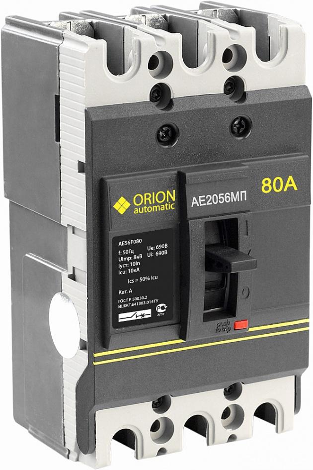 Автоматический выключатель АЕ 2056 МП 80А  660В 10кА AE56F080 Texenergo