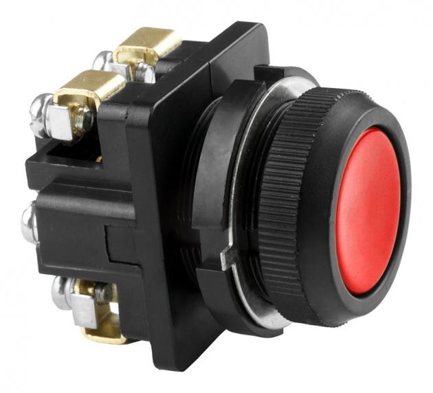 Выключатель кнопочный КЕ 011/3 красный 2р B0113-02R Texenergo