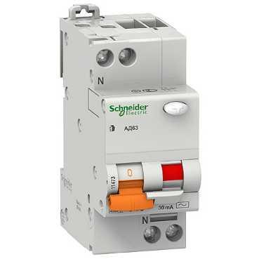 Дифавтомат АД63 1п+N 25A/30мА AC C 4,5кА 11474 Schneider Electric