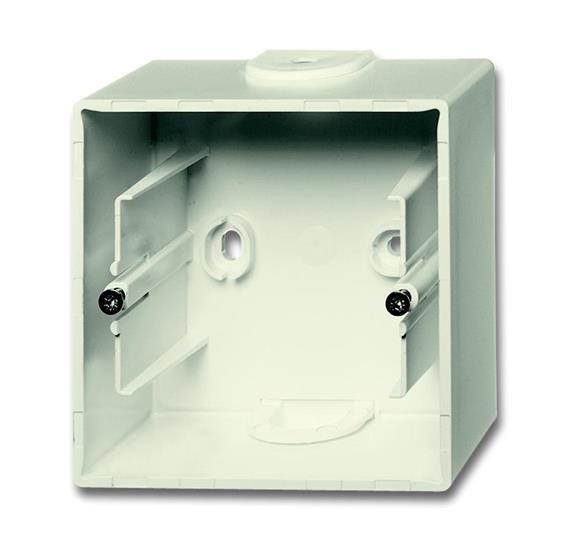 Коробка для открытого монтажа, 1 пост, серия future, цвет слоновая кость 1799-0-0896 ABB