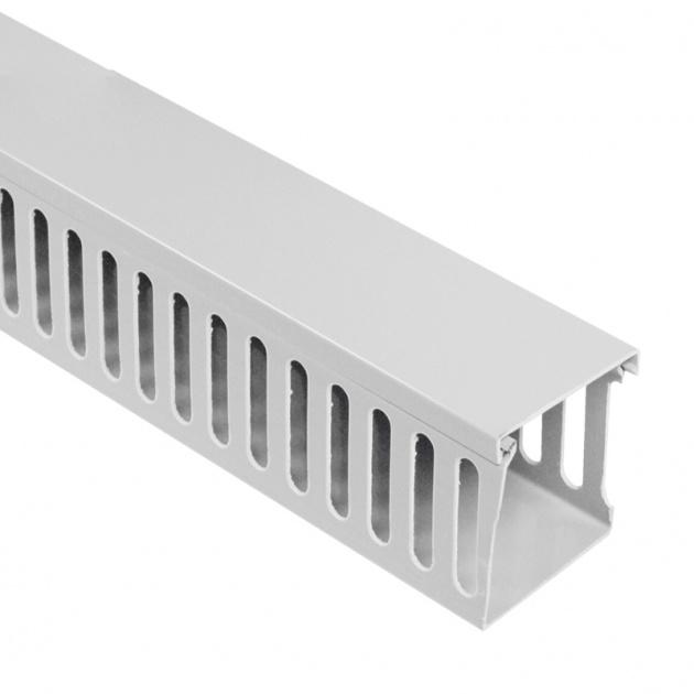 Кабель-канал перфорированный 80х60 (ПВХ-серый) CKKP080-060G Texenergo