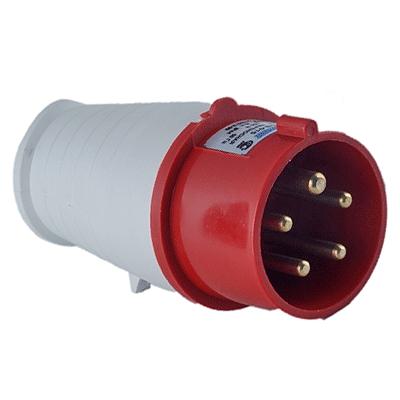 Вилка 015 переносная 3Р+PE+N 16А 380В IP44 SE015-016Q Texenergo