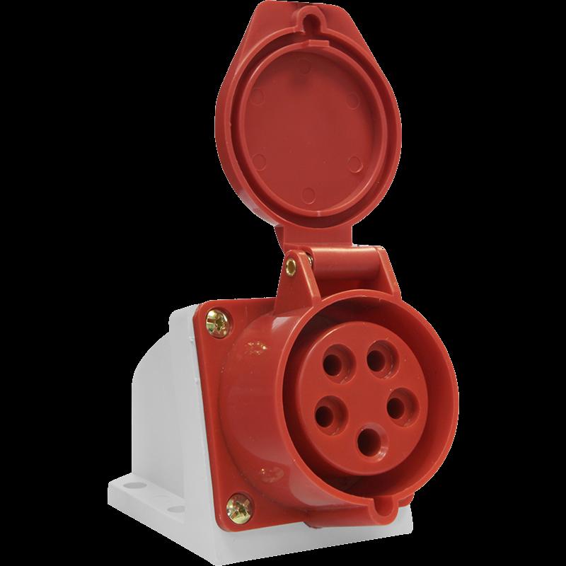 Розетка силовая стационарная 115 ОУ 3Р+PE+N 16А IP44 SE115-016Q Texenergo