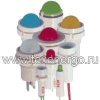 Арматура светосигнальная СКЛ-12 Л-2-220, зеленая, биполярная, 220В  Каскад Электро