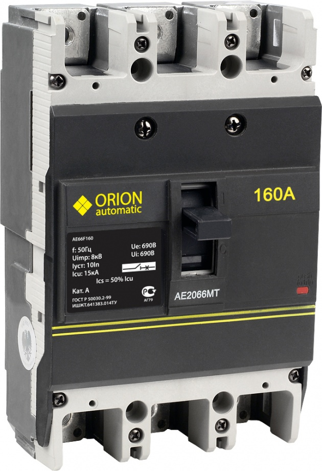 Автоматический выключатель АЕ 2066МТ 3п 160А AE66F160 Texenergo